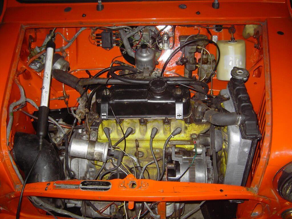 Bild Motorraum Mini