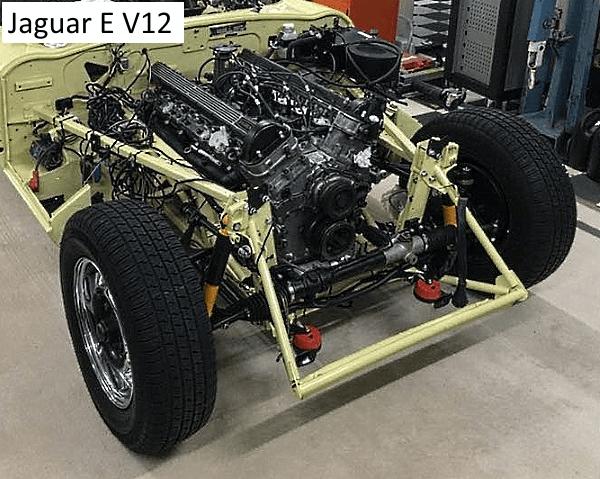 Bild Jaguar Motor eingebaut